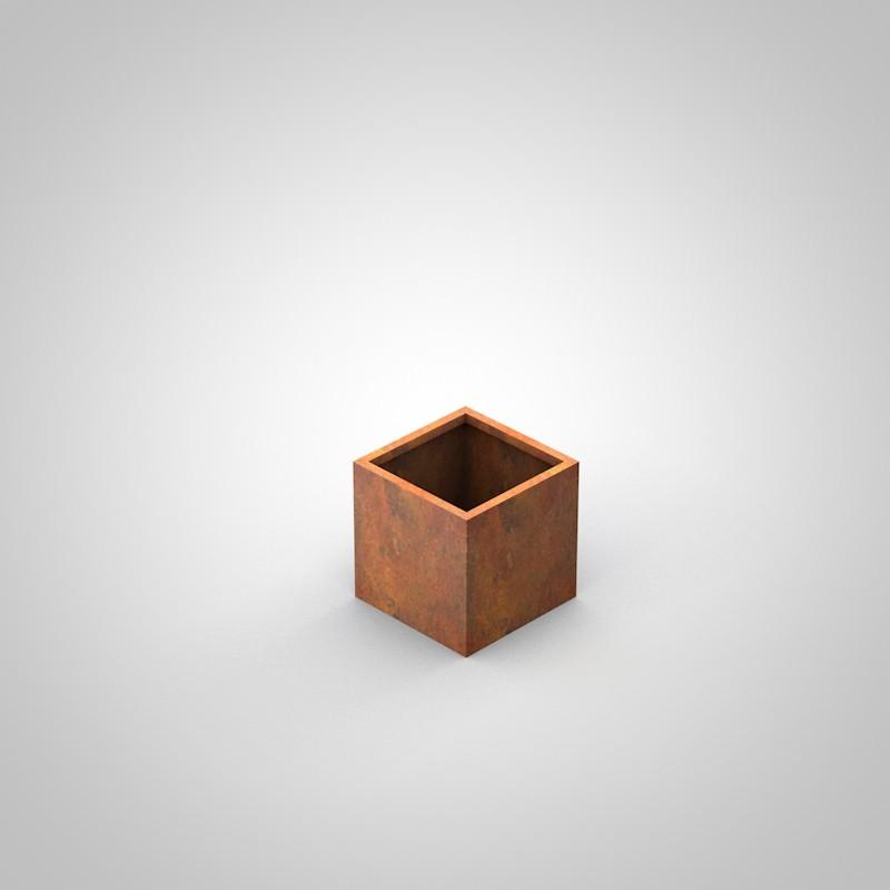 Corten Pflanzkübel - Pflanzbehälter in Edelrost Optik 450 x 450